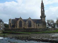 Eglise au bord de l'eau, Le Faou (154 pieces) Place Of Worship, Notre Dame, Building, Places, Travel, Water, Viajes, Buildings, Destinations