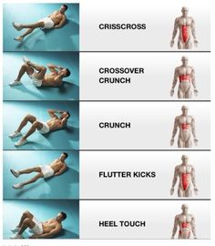 Abs and an exercise for each muscle group