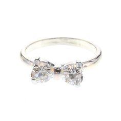 Mini Stone Bow Ring