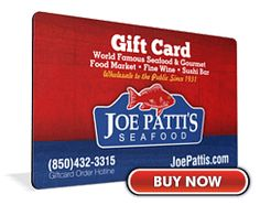 Joe Patti's - this may not exactly be a place to eat, but boy they have great seafood.  I have likened it to a candy store for seafood lovers.  If you are in Pensacola, it's worth the stop.