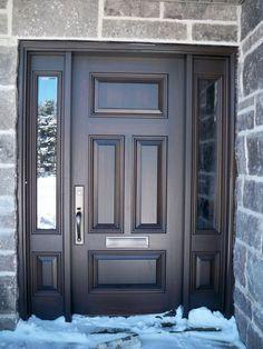 puerta New Door Design, Single Door Design, Wooden Front Door Design, Double Door Design, Bedroom Door Design, Wooden Front Doors, Door Design Interior, House Front Design, Traditional Front Doors