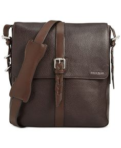 Cole Haan Pebbled Leather North South Messenger Bag