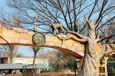 Zoo entrance at Seoul Children's Grand Park. Seoul, South Korea.