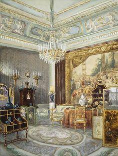 """""""Interior in the Anichkov Palace"""" By: Muravyov, Vladimir Leonidovich Russia, 1897"""