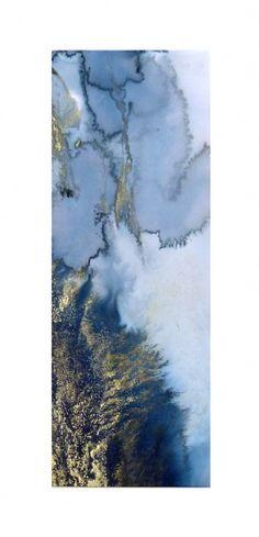 Beth Nicholas.Crashing Waves.2012.Ink.22.5 x 63cm.(41 x 79cm Framed £850)
