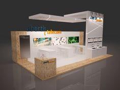 Stand Abertis Telecom by QUAM Brand Environment Design, via Behance