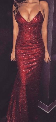 Mermaid Spaghetti Straps Sleeveless Sweep Train Dark Red Sequined Prom Dress · cutedressy · Online Store Powered by Storenvy Sequin Prom Dresses, Mermaid Prom Dresses, Prom Party Dresses, Ball Dresses, Dress Prom, Sequin Maxi, Classy Party Dresses, Ball Gowns, Red Sequin Dress