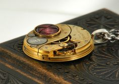 Antique Elgin Pocket watch necklace  by ClosetGothic