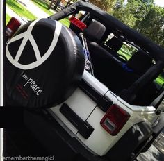 """JEEP WRANGLER I AM PEACE SIGN SPARE TIRE COVER APPROX 29-30"""""""