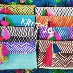 hand made made in mexico , art artesanía mexicana colores vivos  clutch bolsas artesanales