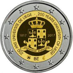 imágenes de la monedas de 2€ cc Bélgica 2017