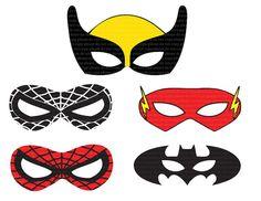 Superhero printable mask