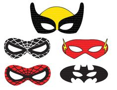 Superhero printable mask