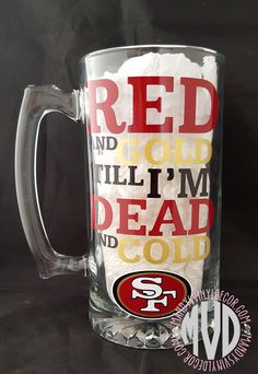 San Francisco 49ers Beer Mug - Mandy's Vinyl Decor