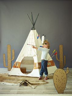 Adventurers Teepee NEW - Imaginative Play - Kids Kids Tents, Teepee Kids, Teepee Tent, Diy Teepee, Indian Teepee, Indoor Tents, Teepee Party, Deco Kids, Cox And Cox