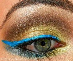 gold and brown eyeshadow #beauty #eyeshadow #makeup