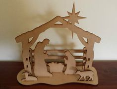 Nativity Scene Laser cut MDF snap together by BreakthroughLaser