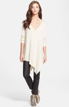 Free shipping and returns on Joie 'Tambrel' Handerkerchief Hem Wool & Cashmere Sweater at Nordstrom.com. A deep V-neckline and handkerchief hem define a drapey sweater cut from a luxe blend of wool and cashmere.