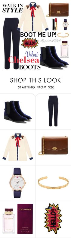 """""""Chelsea boots!"""" by mypointofstyle ❤ liked on Polyvore featuring Antipodium, Gucci, Mulberry, Kate Spade, Dolce&Gabbana, MANGO and chelseaboots"""