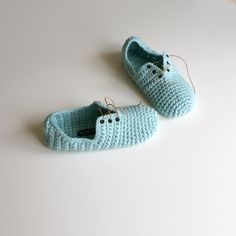 Crochet Slippers Unisex Lace up style slippers by WhiteNoiseMaker