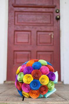 Paper Wedding Bouquet Alternative Wedding by PaperPerfectPetals