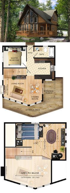 Beaver Homes & Cottages Beauport I :: 907 sq. – Beaver Homes & Cottages Beauport I :: Beaver Homes And Cottages, Cabins And Cottages, House Layout Plans, House Layouts, Log Cabin Homes, Cottage Homes, Log Cabins, Cottage Plan, Best House Plans