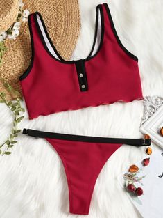 GUOZI Bikini Bikini Swimwear Swimsuit Women Thong Bikini Swimwear Set Female Swimming Suit Beachwear with Pad