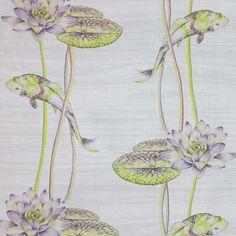 Water Garden Amethyst. Available printed on linen, cotton, cotton linen blends. © Ellen Eden