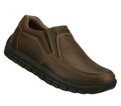 SKECHERS Mens Work Relaxed Fit Magma Solace Non-slip Shoes - Brown - 12