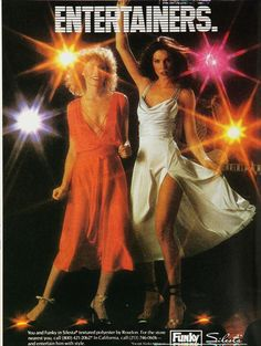 Vintage Fashion Disco Dresses dancing dresses - disco fashion for women in men. What did guys and girls wear to a Disco dance? Explore disco clothes and disco shoes. Get outfit and costume ideas. Disco Hose, Disco Pants, Disco Clothes, Disco Disco, Roller Disco, Studio 54, 70s Fashion, Vintage Fashion, 1970s Disco Fashion