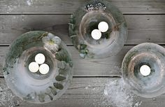 An easy and affordable way to decorate your doorstep in the wintertime or for Christmas, is to make ice lanterns. Scandi Christmas, Xmas, Diy Candles, Winter Time, Blog Design, Decorating Tips, Lanterns, Christmas Decorations, White Decor