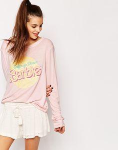 Image 1 ofWildfox Barbie Oversized Baggy Beach Sweatshirt With California Dream Print
