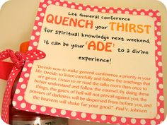 Great idea for the women on my visiting teaching list!