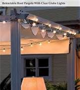DIY Retractable Awning This would just be hung on an existing pergola. oh yeah, and building a pergola Diy Pergola, Pergola With Roof, Covered Pergola, Pergola Shade, Patio Roof, Backyard Patio, Deck Shade, Pergola Canopy, Gazebo
