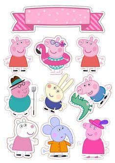 Bolo Da Peppa Pig, Cumple Peppa Pig, Peppa Pig Birthday Cake, Birthday Bash, Birthday Celebration, George Pig, Sticker Printable, Peppa Pig Imagenes, Peppa Pig Wallpaper