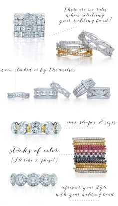Engagement Rings and Wedding Bands by Kwiat love top left stacking - dual use for engagement - wedding band