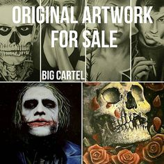 jamesmpallart/2016/10/10 13:22:05/Original Artwork for Sale + Prints  Check out my Big Cartel Store (link in my description)  #art #drawing #painting #oilpainting #joker #heathledger #oil #original #artwork #darkart #alexturner #tatelangdon #artcollector #artfeature #feature #gothic #originalart #portrait #skull #instaart #instadaily #ArcticMonkeys #ahs #bigcartel #store #selling #sale #paypal