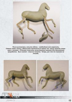 Sculpting a clay horse: the legs Horse Sculpture, Sculpture Clay, Animal Sculptures, Polymer Clay Animals, Polymer Clay Art, Sculpting Tutorials, Art Tutorials, Horse Anatomy, Poses References