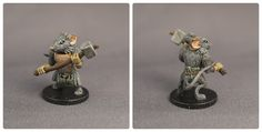 Miniature figures from the Mice and Mystics tabletop board game that I've painted. This is Nez.