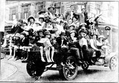 Snapshots of Street Scenes in Sydney Following the Official News of the Armistice - November 1918 - A Concert Party Who Paraded the Streets