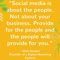 Matt Goulart quote (Founder of a Digital Marketing Agency) Internet Marketing, Online Marketing, Social Media Marketing, Marketing Ideas, Digital Marketing Quotes, Business Quotes, Monday Motivation, Inspirational Quotes, Motivational