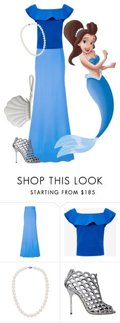 """""""Aquata"""" by madalynkw on Polyvore featuring Antonio Berardi, Ted Baker, Disney, Blue Nile, Sergio Rossi and Katie Loxton"""