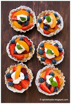 Tartelettes Aux-Fruit #NoBake #Summer Fruit Tarts | #dessert #fruit #tarts #berries
