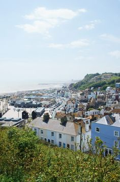 View from East Hill, Hastings, England