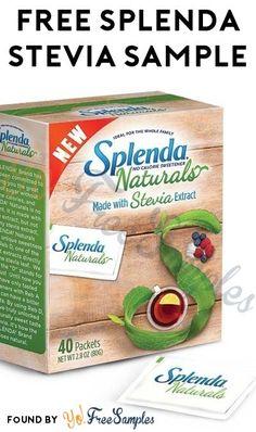 FREE Splenda Naturals Stevia Sweetener Sample [Verified Received By Mail]
