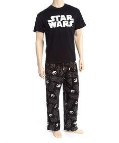 Loving this Black 'Star Wars' Pajama Set - Men on #zulily! #zulilyfinds