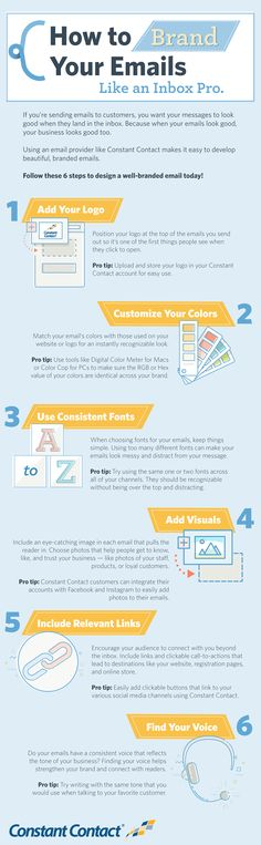 Want to make a great impression in the inbox? Use these tips to learn how to brand your email effectively with colors, fonts, visuals, and more.