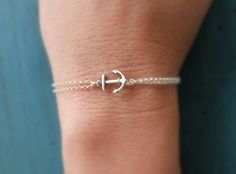 Silver Anchor Bracelet sorority gift Sterling Silver chain Bridesmaid Jewelry Girl Friend Gift nautical jewelry Navy Gift Cruise theme by vintagestampjewels on Etsy https://www.etsy.com/listing/125206008/silver-anchor-bracelet-sorority-gift