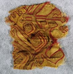 Image Source: de Young/Legion of Honor, San Francisco, CA, USA; Object: Fragment, Red and yellow; Date: Pre-Columbian; Content: Not available; Source: Peru