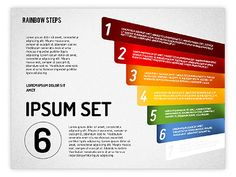 http://www.poweredtemplate.com/powerpoint-diagrams-charts/ppt-stage-diagrams/01659/0/index.html Rainbow Colored Steps Diagram